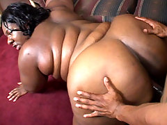 Lusty black fatty Nomi enjoys having her face hole stretched and filled with a cock and cum black fat xxx