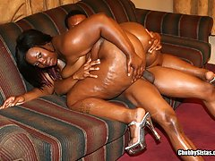 Curvy Black BBW Fucked In Her Thick Twat