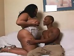 Steamy black BBW slut gets plugged hard black fat xxx