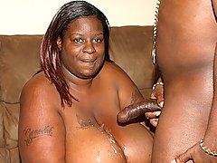 Fattest Ebony Ever Works Huge Black Cock