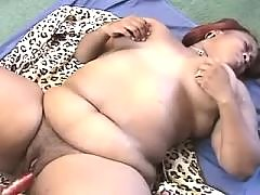 Chubby ebony chick likes it hard