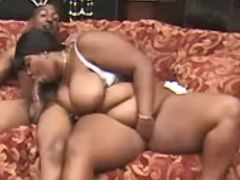 Fat black slutty deep throats cock