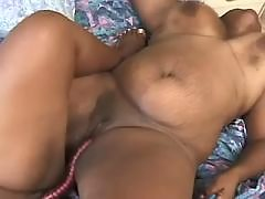 Fat black babe gets massive nailing